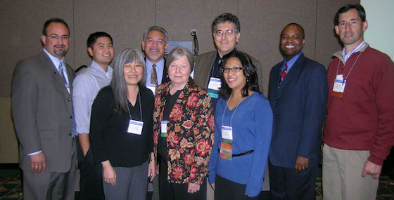 group photos from 2008 SACNAS Postdoc Opportunities panel